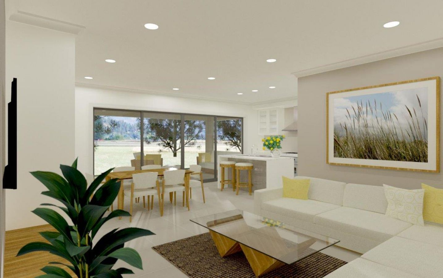 Open living area